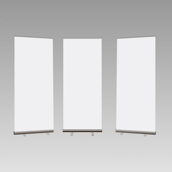 Roll up banner isolated on transparent background.