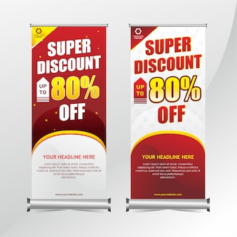 Roll up banner promotion template