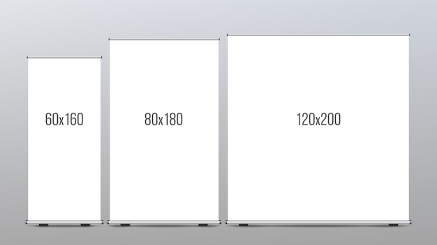 Roll up banner stand set
