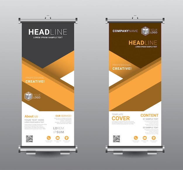 Roll up banner standee business template design.