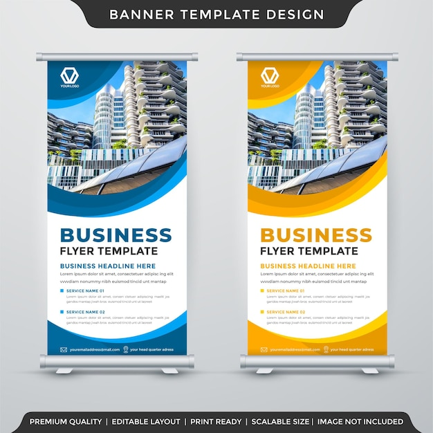 Roll up banner template design and presentation