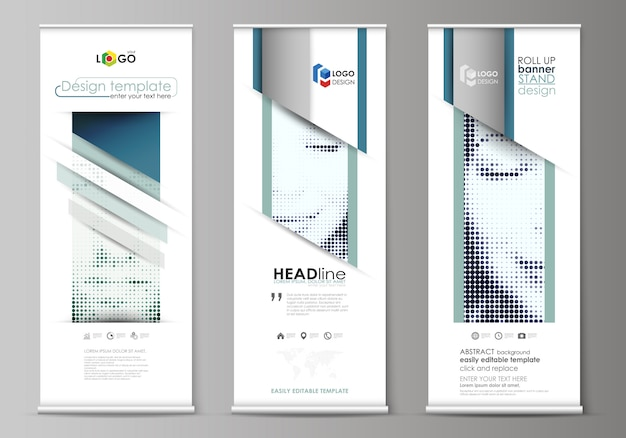 Roll up banner template set