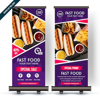 Roll up banner with colorfull gradient