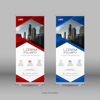 Roll up banner with modern design
