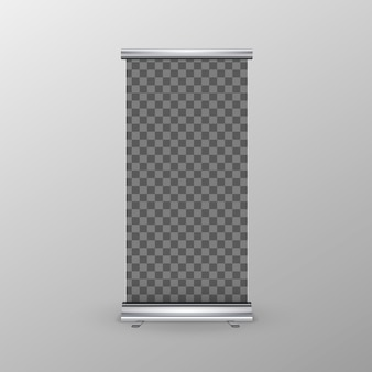Roll-up banner Premium Vector