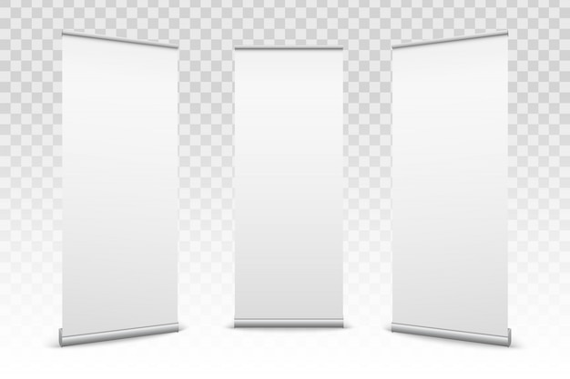 Roll up banners paper canvas texture background.