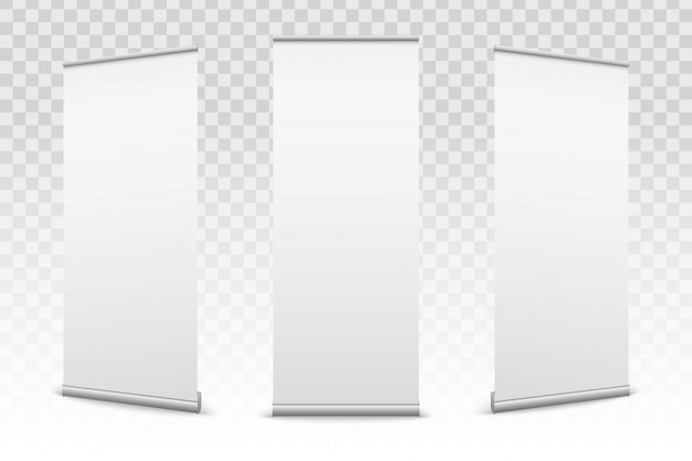 Roll up banners paper set
