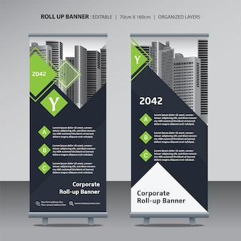 Roll up design template for corporate business
