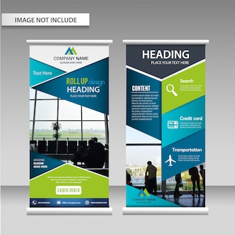 Roll up design template layout.