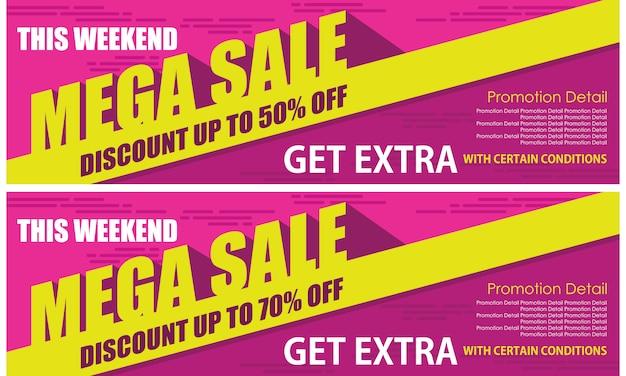 Roll up mega sale banner