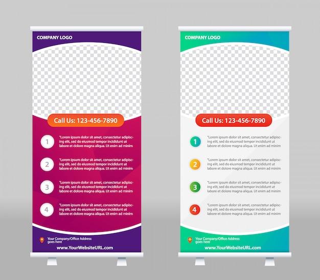 Roll up баннер дизайн шаблона