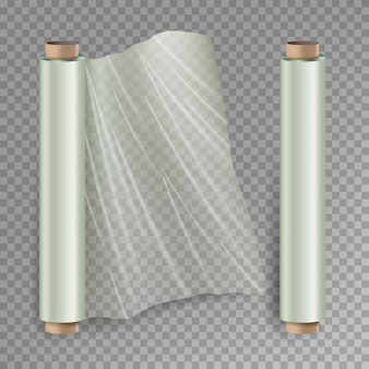 Roll of wrapping stretch film