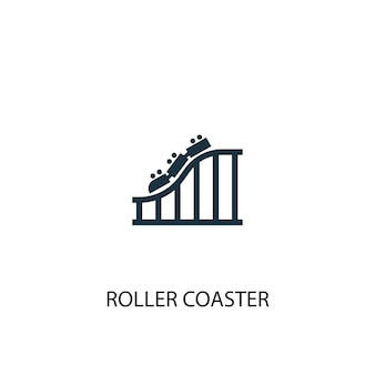 Roller coaster icon. simple element illustration. roller coaster concept symbol design. can be used for web and mobile.
