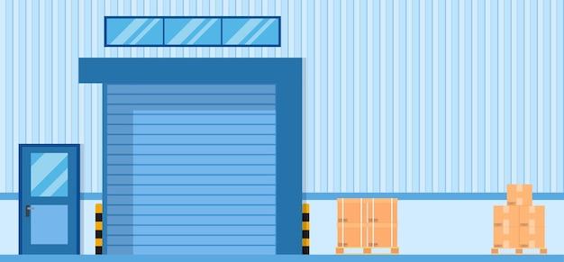 Roller door or roller shutter. Premium Vector