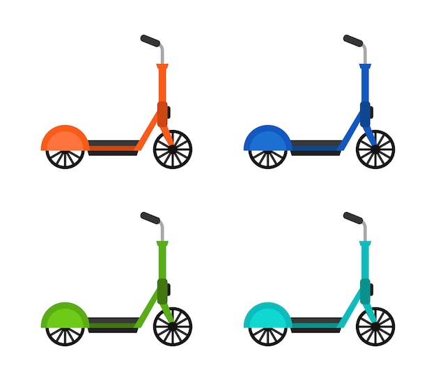 Roller scooter on white