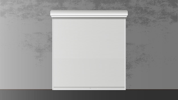 Roller shutter for window 3d. closed roller shutter for a window. realistic vector.