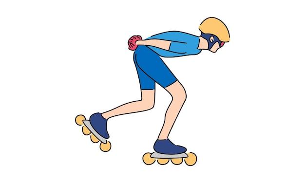 ローラースケート選手