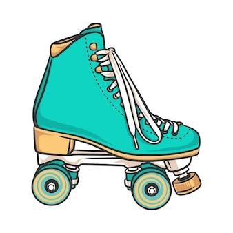 ローラースケートスタイルの楽しいスポーツ