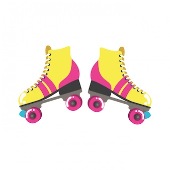 Roller skates pop art icon