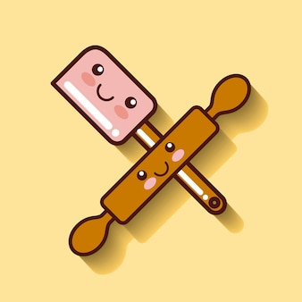 Rolling pin icon design