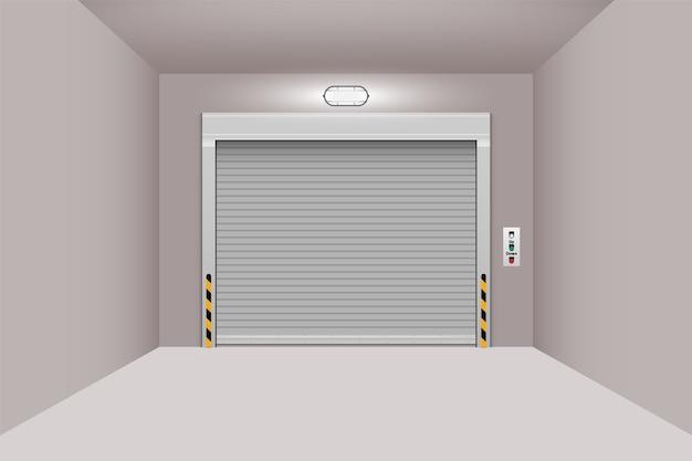 Дверь рольставни для мастерской склада