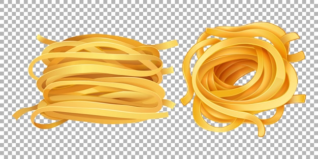 Rolls of pasta on transparent background