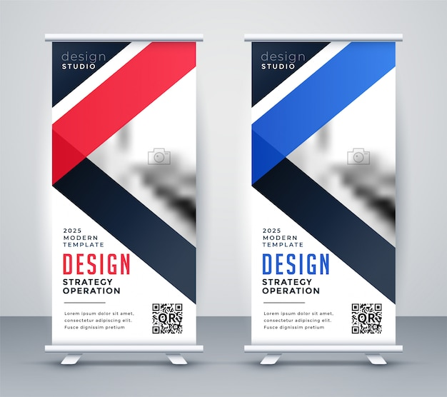 Rollup banner presentation template set