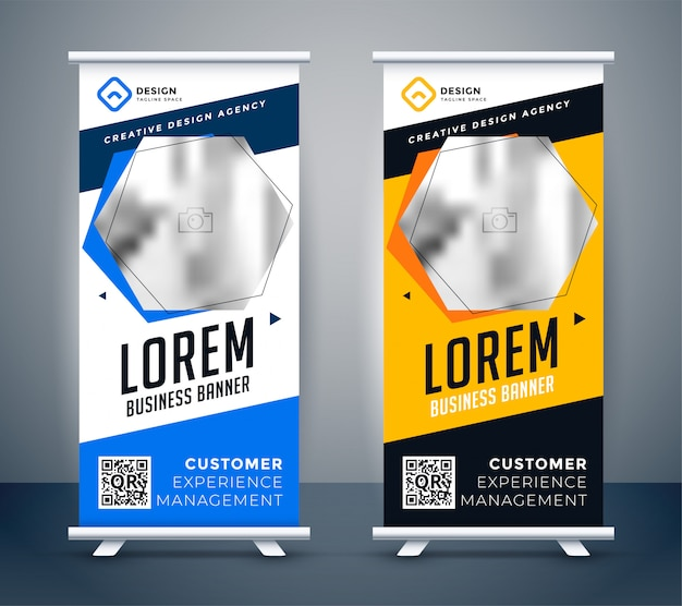 Rollup presentation banner in modern creative style