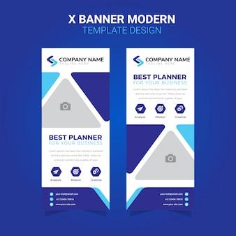 Rollup xbanner modern simple business template design