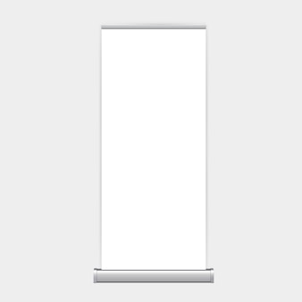 Rollup xbanner stand isolated