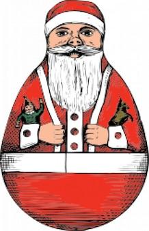Rolly-polly santa