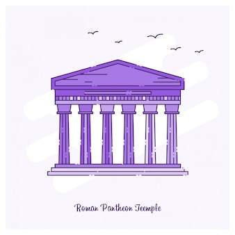 Roman pantheon teemple landmark