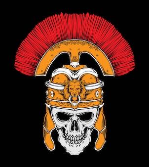 Roman skull vector