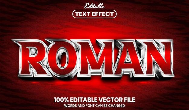 Римский текст, редактируемый текстовый эффект стиля шрифта