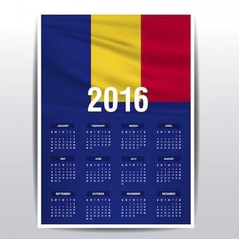 Romania calendar of 2016