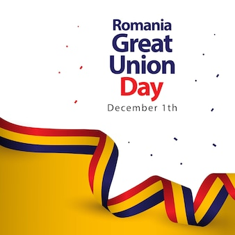 Romania great union day vector template design illustration