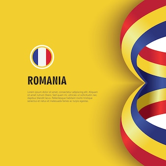 Romania independence day vector template design illustration
