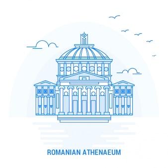 Romanian athenaeum blue landmark