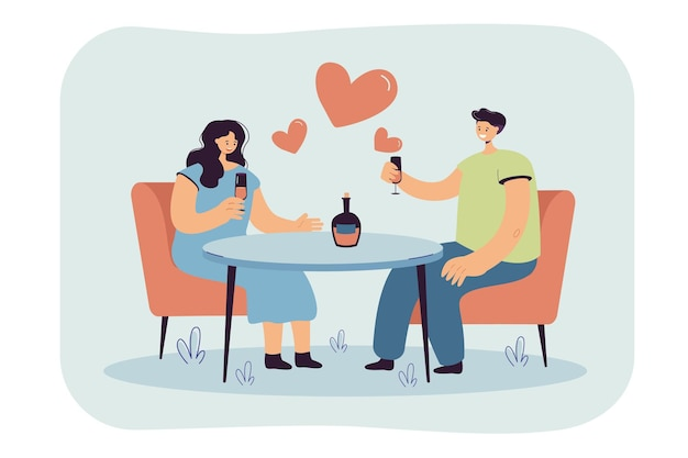 Romanic date illustration