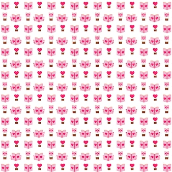 로맨틱 책 패턴 일러스트 디자인 로맨틱 귀여운 패턴 디자인