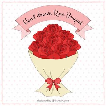 결혼식을위한 장미의 로맨틱 한 꽃다발