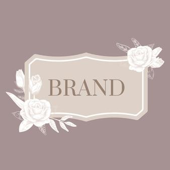 Romantic brand label