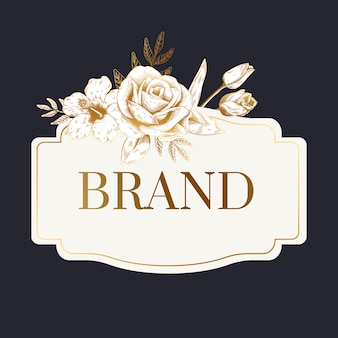 Romantic brand label