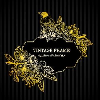 Романтическая открытка с золотой гравировкой