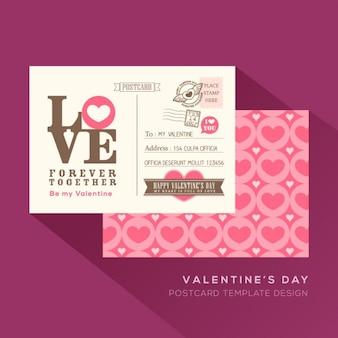 Carino valentine love design template biglietto cartolina