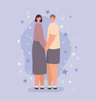 ロマンチックなカップルのデザイン