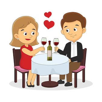 Romantic couple restaurant on date love,valentine's day