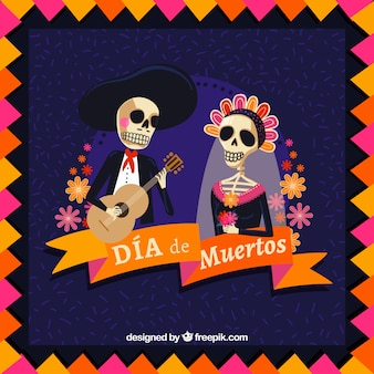 Romantic day of the dead background