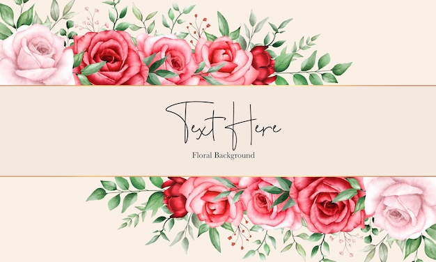 Romantic floral background maroon flower