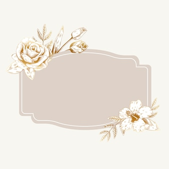 Romantic floral badge